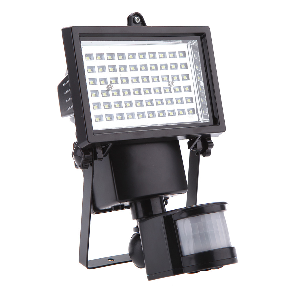 Solar Powered Panel Security Lamp Floodlight House Home