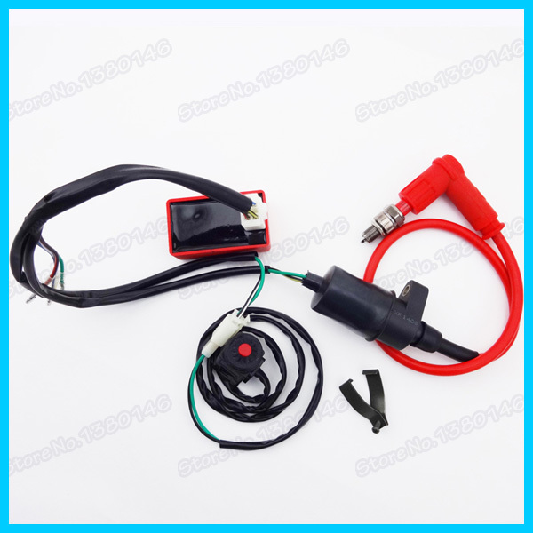 wiring loom harness kill switch racing ignition coil cdi box spark pit dirt bike motocross