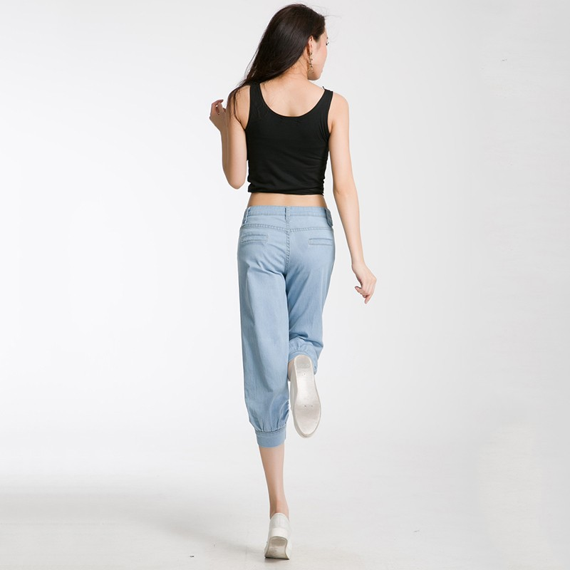 Скидки на Женщины карандаш джинсы худощавое хороший значительно ноги упругой ноги женские брюки весна эластичный пояс джинсовой женщины джинсы