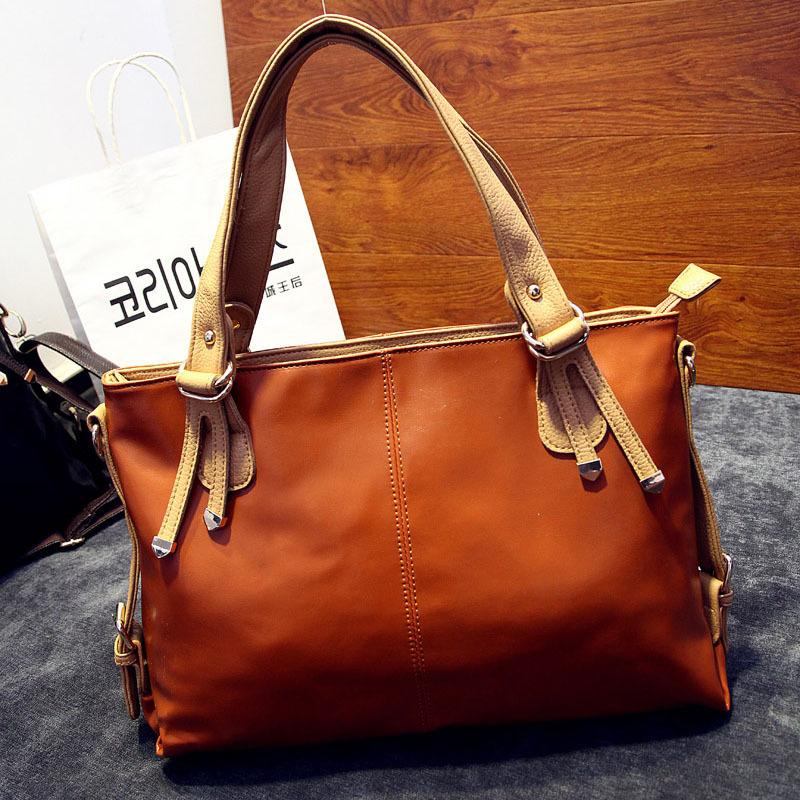 Bags handbags women famous brands women messenger bags Fashion plain bag large capacity shoulder diagonal package free shipping(China (Mainland))