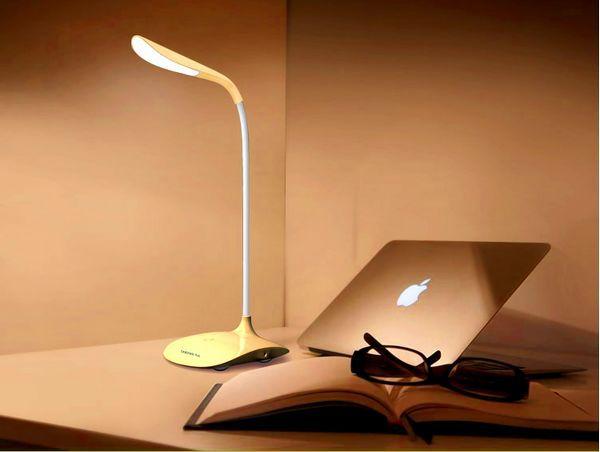 14 LED Bulbs Reading Light Student Desk Lamp Foldable Rechangeable Touch Sensor Fashion Table 3-Level Brigntness 0038 - Since 2010 Enterprises store