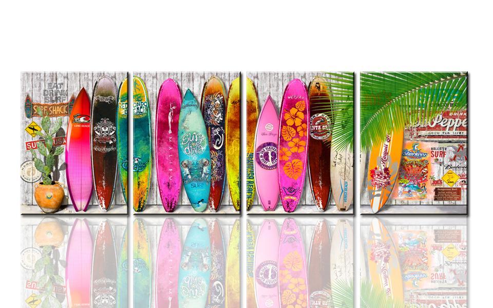 Commentaires planche de surf peintures faire des achats en ligne commentair - Planche de surf de decoration ...