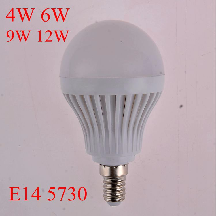 10pcs/lot led lamp E14 4W 6W 9W 12W LED Bulbs 220V 230V 240V led lamp Cold white warm white LED light(China (Mainland))