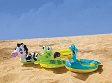 INTEX59220 Water Sport Summer Fun Pool Toys Extra-Thick Safety Inflatable 6P PVC Child Swim Float Cartoon Animal Swimming Rings(China (Mainland))