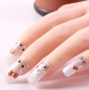 new fashion nail art decorations decal manicure cute pattern Five nail stickers free shipping(China (Mainland))