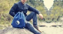 Высокое качество хлопок и лен синий/хаки даосский сумки монахи Шаолинь сумка Тай Чи даосизм рюкзак Единоборства сумки(China)