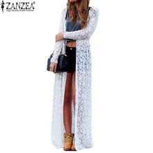6 Color Blusas 2016 Women Outwear Lace Crochet Long Sleeve Beach Kimono Cardigan Casual Loose Long Blouses Tops Plus Size Shirts(China (Mainland))