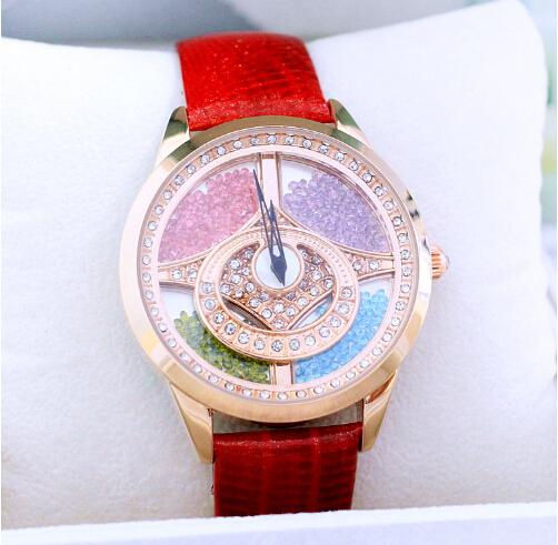 Hot Sales Quicksand Women Dress Watches Fashion Lady Wristwatches Genuine Leather Watch Women Rhinestone Watches Bracelet Hours<br><br>Aliexpress