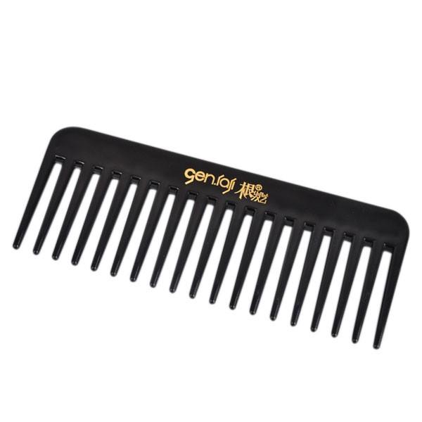 19 зубы черный высокое качество ABS пластик круто-устойчивых большой гребень зуба Detangling wide-зубы парикмахерские гребень