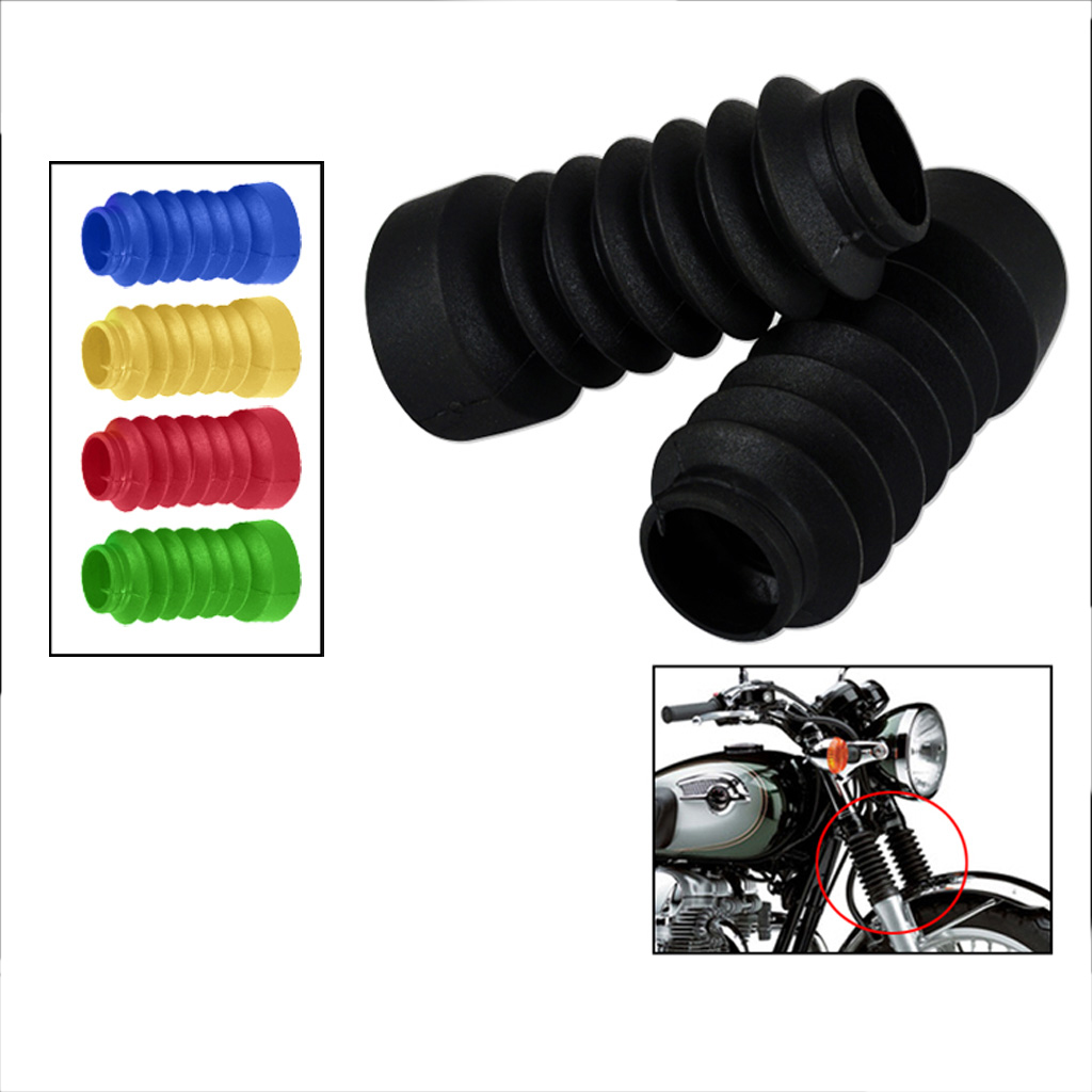 2 Pcs Motorcycle Front Fork Cover Rubber Gaiters Boot Shock Protector Dust Guard For Motorbike Pit Dirt Bike Motocross 5 Colors