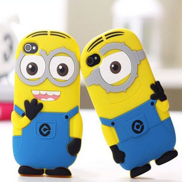 ONECASE Hot Fashional new arrival cute cartoon model silicon material Despicable Me Yellow Minion Cover for iphone 5 5s(China (Mainland))