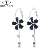 Trendy Vintage Royal Style Crystal Long Earring For Women Wholesale Price Dangle Earrings With Box Packing(China (Mainland))