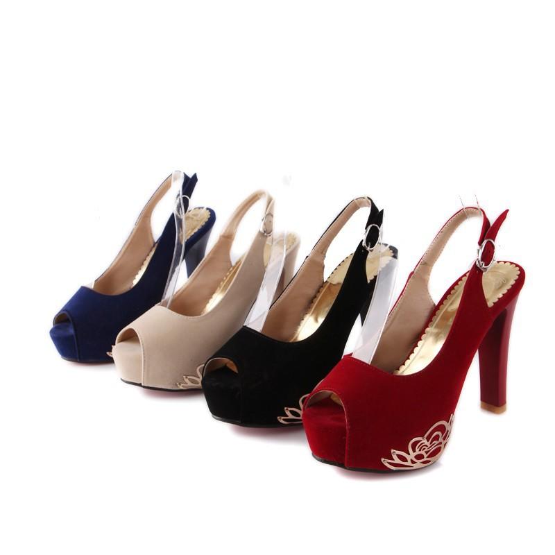 1 Pair Red bottom heels colorful Pumps Platform Women Party plus size 11 Nubuck leather bridal shoes Woman escarpins semelle B-2