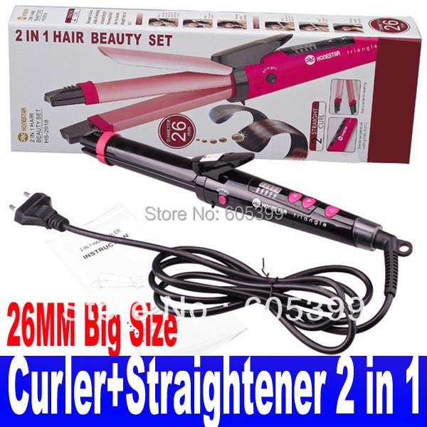 Professional Hair Curling Iron Curler Ceramic Hair Straightener 2 in 1 Dual 26MM Big Size For Women 110-240v Free Shipping<br><br>Aliexpress