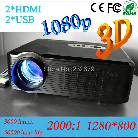 Christmas Gift Mini Lcd Projector With HDMI+USB+VGA+TV+A/V Media Tuner Connect TV/PC/Ipad/telephone/ps3 For Film Game(China (Mainland))