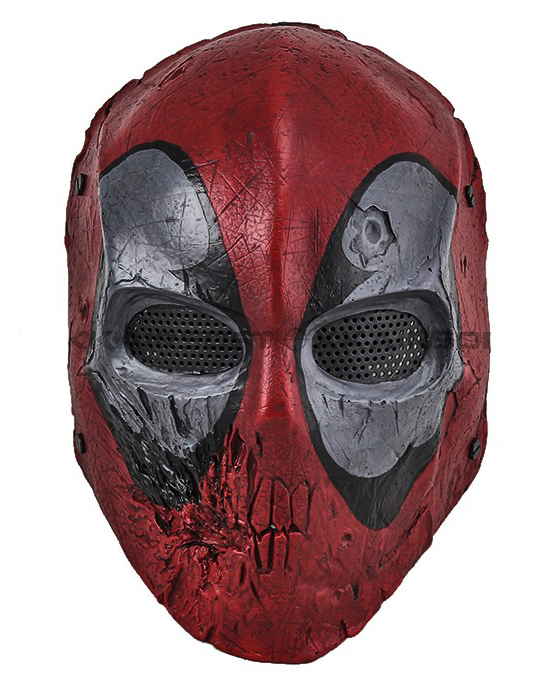 Paintball Airsoft Wire Mesh Dead Pool Army Two Full Face Mask - CS Outdoor supplies stores store