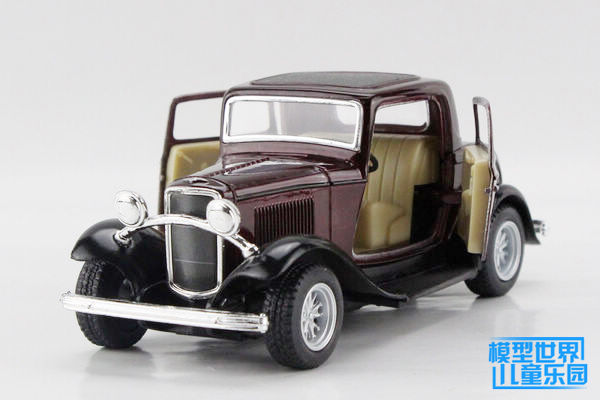 1PC 12.5cm Alloy crown model car intelligence became 1932 classic old FORD<br><br>Aliexpress