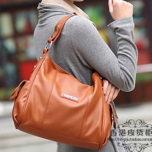 Wpkds 2012 genuine cowhide leather bags women's handbag messenger bag shoulder bag handbag women's handbag