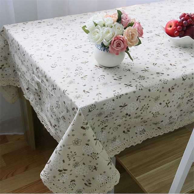 European tablecloths Dandelion linen cover universal cover cloth towel pastoral lace mat for picnic for wedding hotsale(China (Mainland))