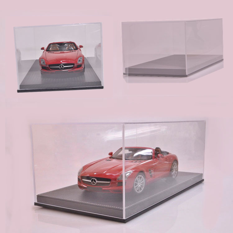 1:18 high-end acrylic transparent cover dustproof cover high-grade leather base vehicle model display box<br><br>Aliexpress