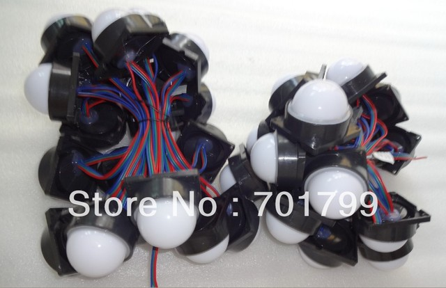 20pcs DC12V WS2811 pixel module with milky cover;6pcs 5050 led inside;1.44W;,50mm diameter