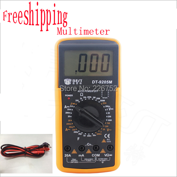 DT9205M AC/DC Digital LCD Display Electrical Handheld Tester Digital Multimeter digital professional Multimetro Meter Ammeter(China (Mainland))