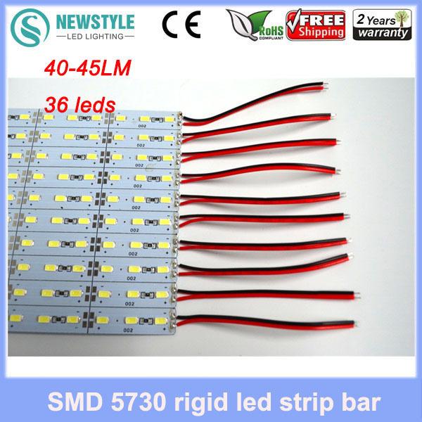 10pcs LED Bar lights hard strip 50CM DC12V 36 leds SMD5730 18W40-45LM LED Hard Rigid LED Bar light white/warm white freeshipping(China (Mainland))