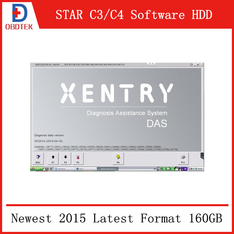 Newest 2014.05V MB STAR C3/C4 Software HDD DELL Format 160GB(China (Mainland))