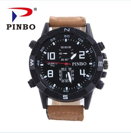 New-PINBO-Brand-Men-Big-Dial-Casual-Quartz-Watch-Men-Fabric-Mixed-color-Leather-Strap-Military (3)