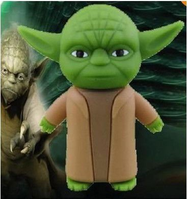 STAR WARS Cartoon Yoda USB 2.0 Flash Memory Stick Pen Drive 4GB 8GB 16GB 32GB LU092