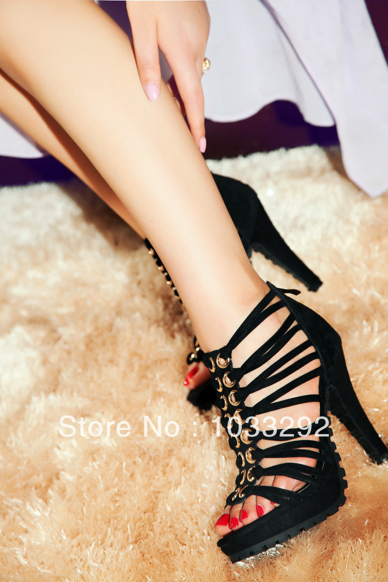 Sexy Peep Toe High Heels