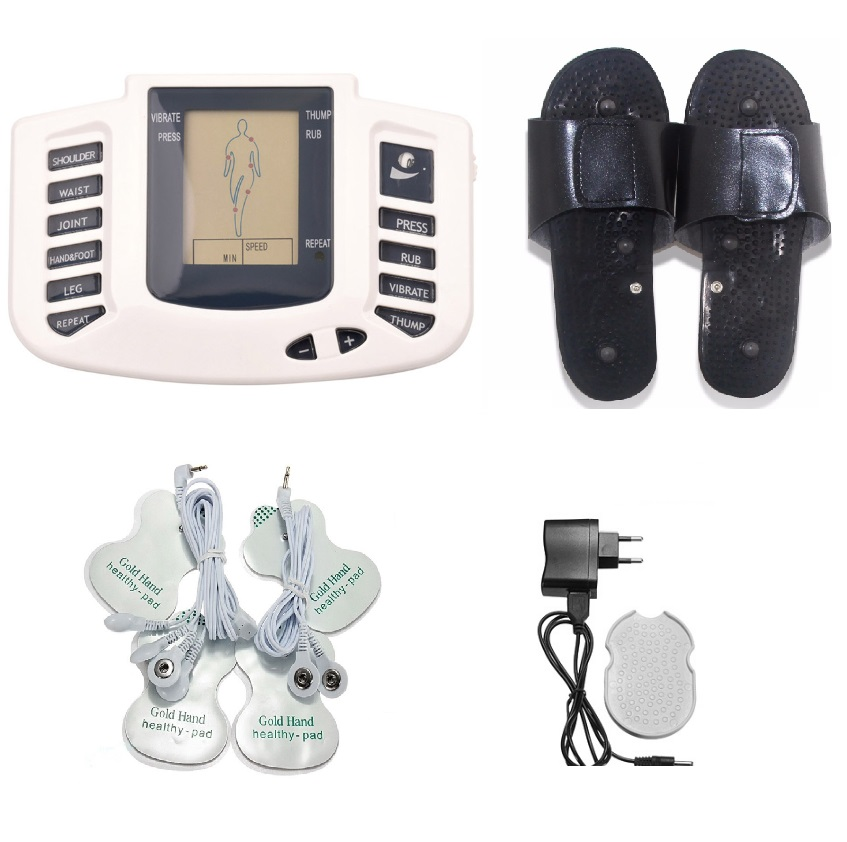 Electroestimulador Muscular for Body Relax Muscle Massager Pulse Tens Acupuncture Therapy Slipper+6 Electrode Pads+Retailbox(China (Mainland))