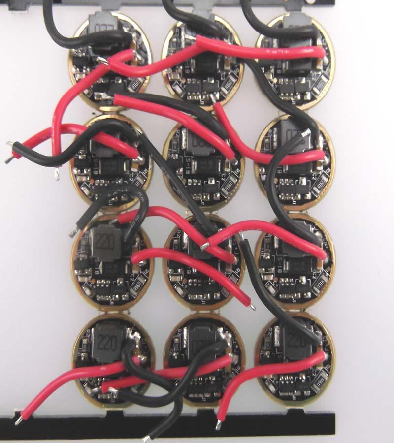 free shipping 10pcs 16.8mm 2.7V-14V 1.5A 1-Mode 100% High LED Circuit Board for CREE XML XPL LED flashlight driver(China (Mainland))