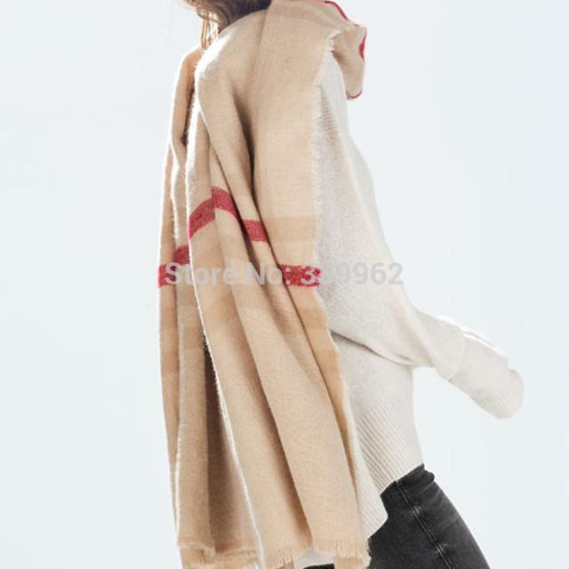2016 за новый счетчик подлинной европейский стиль насыщенный цвет шарф кашемира подарок унисекс бесплатная доставка