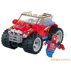 20pcs/lot children gift.Star spider Superman series Thunder red alert Building Block Sets.Educational Jigsaw toys yz1075(China (Mainland))