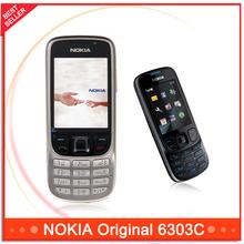 6303 unlocked original nokia 6303C mobile phones cheap phones free shipping(China (Mainland))