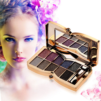 Professional Diamond Eyeshadow Palette Matte Naked Cosmetic Brush Makeup Set Palette 10 colors paleta