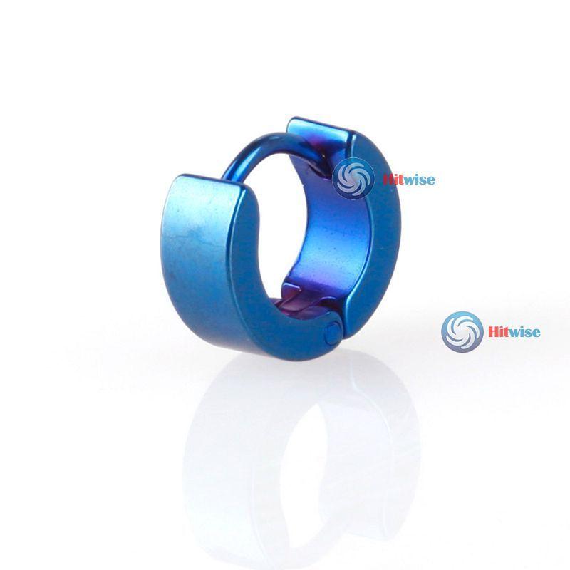 hitwise cheaper 1PCS Titanium Steel Man Ear Clip On Ear Earrings Studs Most popular(China (Mainland))