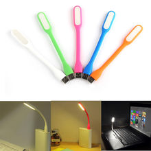 Top Quality Xiaomi Portable USB LED Light Flexible Silicone 5V 1.2A 5 Color USB Lamp For Power Bank Computer Free Shipping
