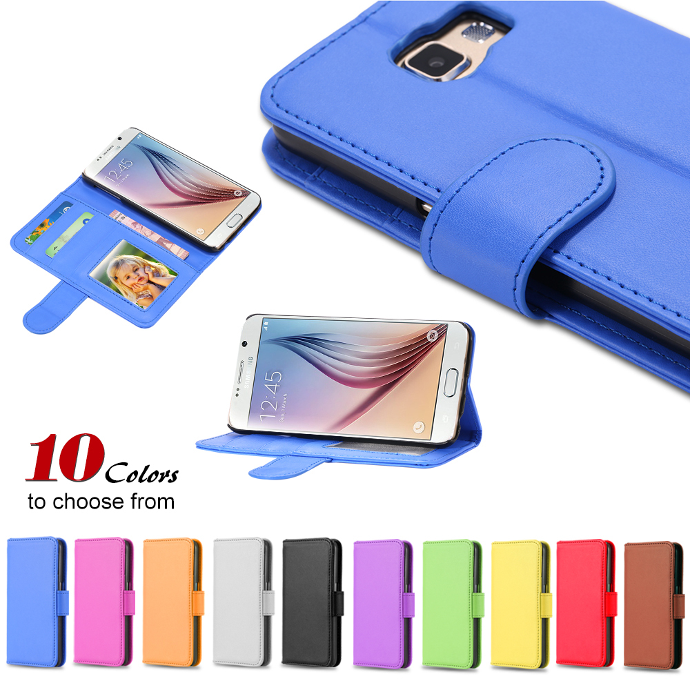 S6 Mobile Phone Bags & Cases Leather Shell Case For Samsung Galaxy S6 SVI G9200 Stand Display Cover With Magnetic Buckle Wallet(China (Mainland))