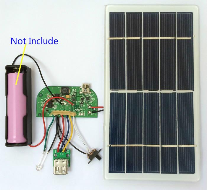 1 Set Solar Power Generate 3.7V Lithium Battery Charging Board 5V Mobile Phone Charging Bank Module(China (Mainland))