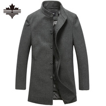 Men's Wool Jackets Spring Autumn Brand Men Woolen Coats Middle Long Jackets And Coats Mens Warm Wool Overcoat Size 3XL 2XL(China (Mainland))