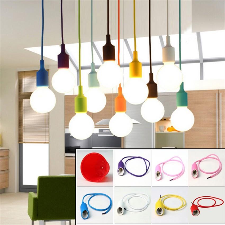 Moderno lampadario cucina bar paralume lampada a sospensione batti luce di soffitto in     -> Lampadari Moderni Color Rame