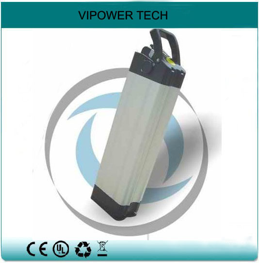 24V 9Ah Li-ion E Bike Batteries Lithium-Ion Electric Bicycle Battery Silver Fish Case Rechargeable Pack Bottom discharge - Shenzhen Vipower Technology Co., Ltd. store
