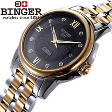 2016 Fashion Casual wrist watch Full Steel Sports Noble CZ Diamond Wristwatches waterproof shockproof relogio watches Black Dial