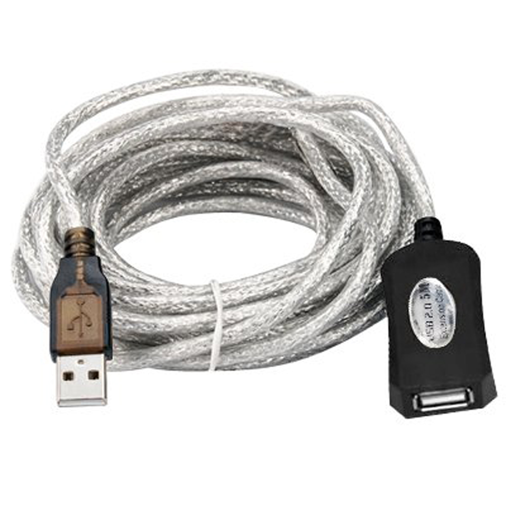 2015 hot free shipping 5m USB 2.0 Active Repeater Cable Extension Lead,IN STOCK(China (Mainland))