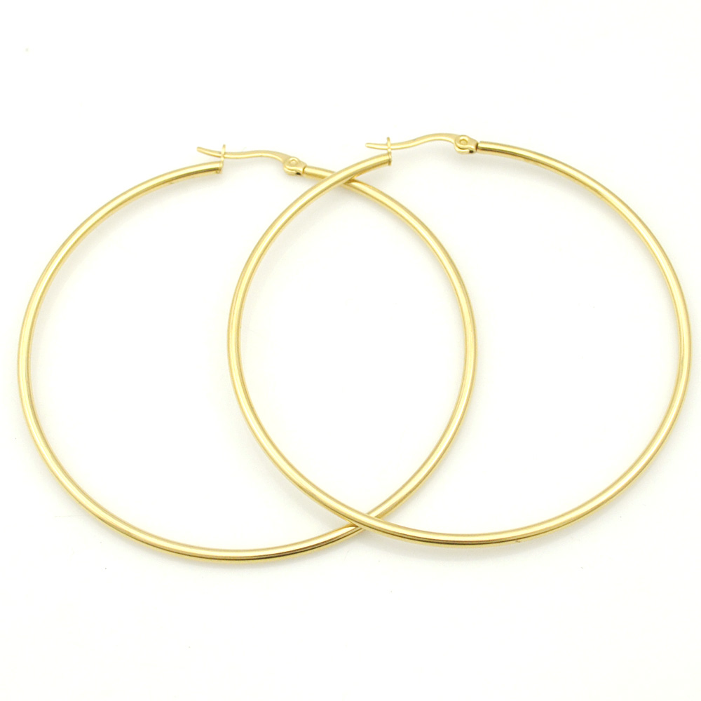 Small&Big Earrings, Color Silver or Gold Plated Stainless Steel Hoop Earrings for Basketball Wives Jewelry Christmas Gift 2016(China (Mainland))