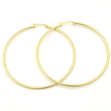 Small or Big Earrings, Color Silver or Gold Plated Stainless Steel Hoop Earrings for Basketball Wives Jewelry Christmas Gift(China (Mainland))
