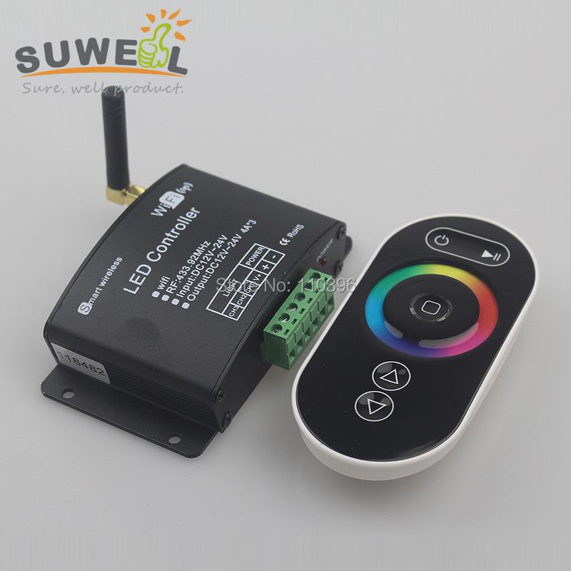 Smart Led Wifi Controller with RF touch panel remote, 2.4G wifi led dimmer/color temperature/RGB controller for rgb led strips<br><br>Aliexpress