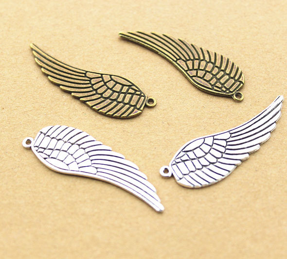 Buy 50pcs 48mm angel wing slide charms for Jewelry making supply store
